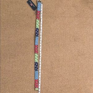 NWT Vineyard Vines Patchwork holiday belt